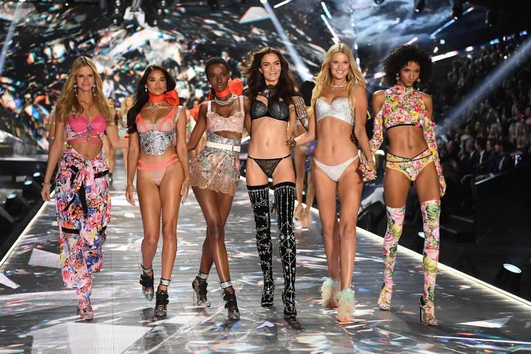 Modelos no Victoria's Secret Fashion Show  de 2018
