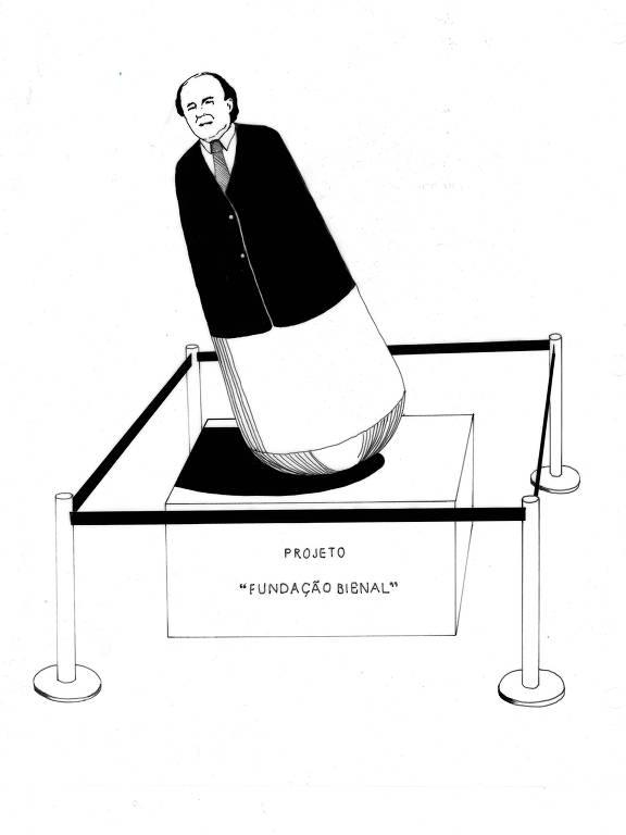 ilustração em preto e branco