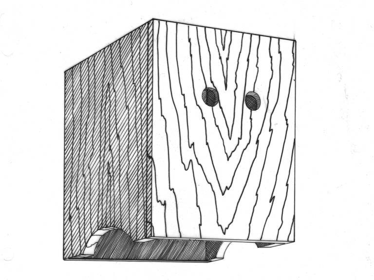 ilustração caixa de madeira