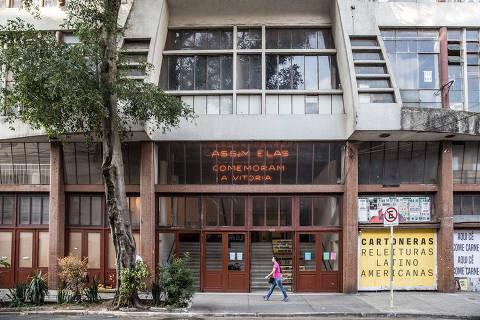 São Paulo, SP, Brasil, 27-11-2018: Fachada da Casa do Povo, no Bom Retiro, com a obra