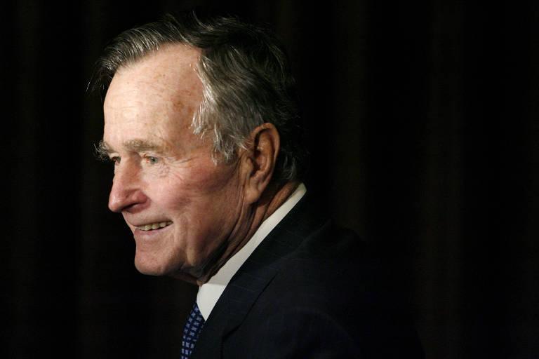 O ex-presidente americano George H.W. Bush, que morreu no início da madrugada deste sábado (1°)