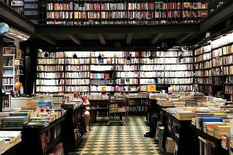 Interior da Livraria da Travessa, no Rio de Janeiro