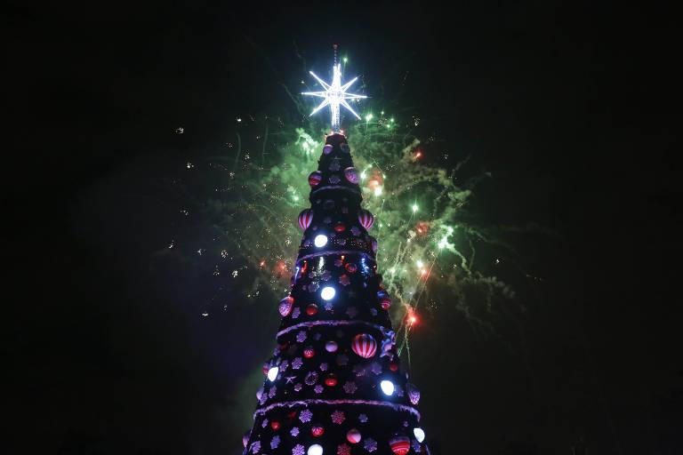 A árvore de Natal do Ibirapuera, em 2018