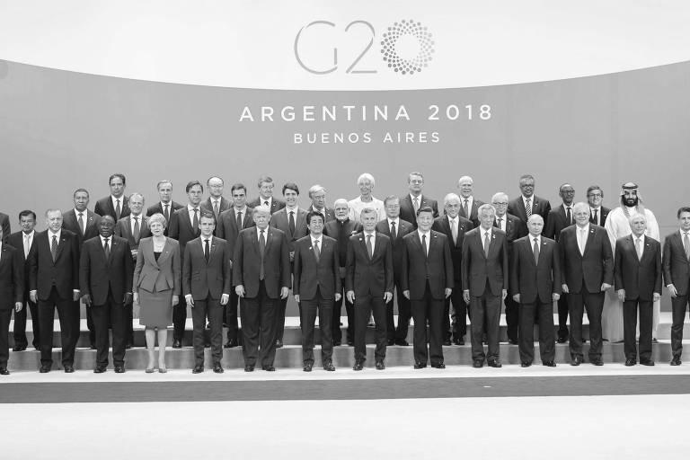 Líderes posam para tradicional foto do encontro do G20, em Buenos Aires