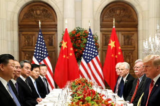 FILE PHOTO: U.S. President Donald Trump and Chinese President Xi Jinping meet after the G20 in Buenos Aires