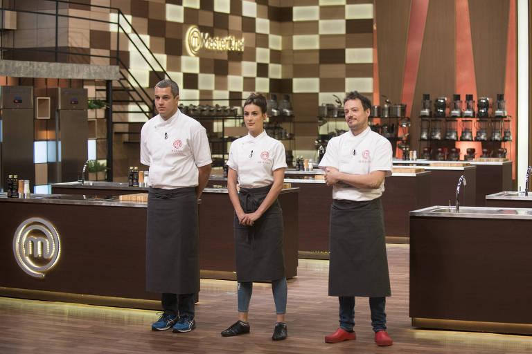 Da esquerda para a direita, os semifinalistas: Rafael, Heaven e Willian