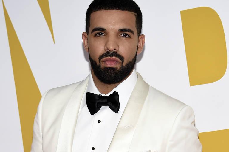 O rapper canadense Drake durante evento em Nova York
