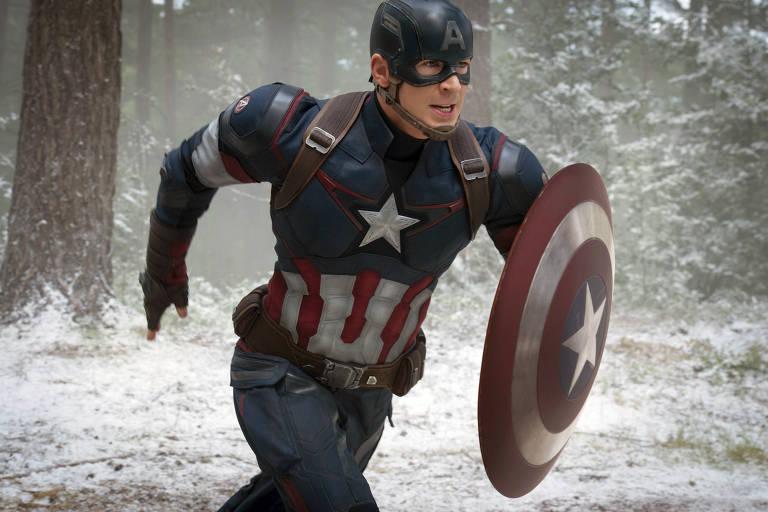 Chris Evans em 'Vingadores: Era de Ultron', produção da Disney, estúdio ligado à MPA