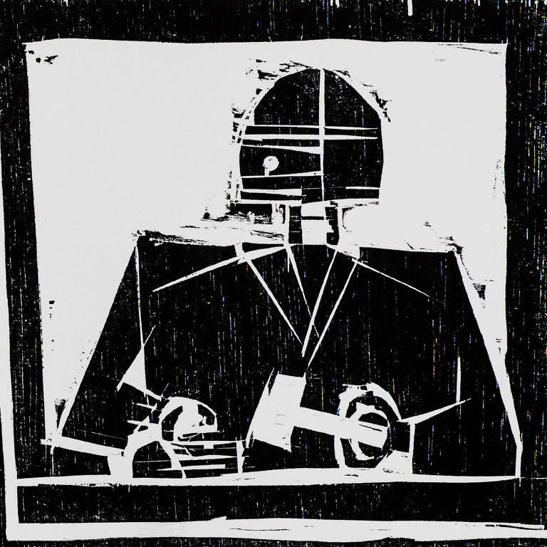 Reprodução de xilogravura do artista Fernando Vilela