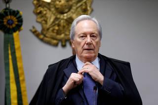 Judge Ricardo Lewandowski attends to a session of the Supreme Court in Brasilia