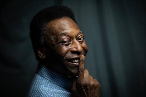 SANTOS, SP, 28.11.2018 - Entrevista com Pelé, campeão nas Copas do Mundo de 1958, 1962 e 1970, no museu que leva seu nome, em Santos. (Foto: Bruno Santos/Folhapress)