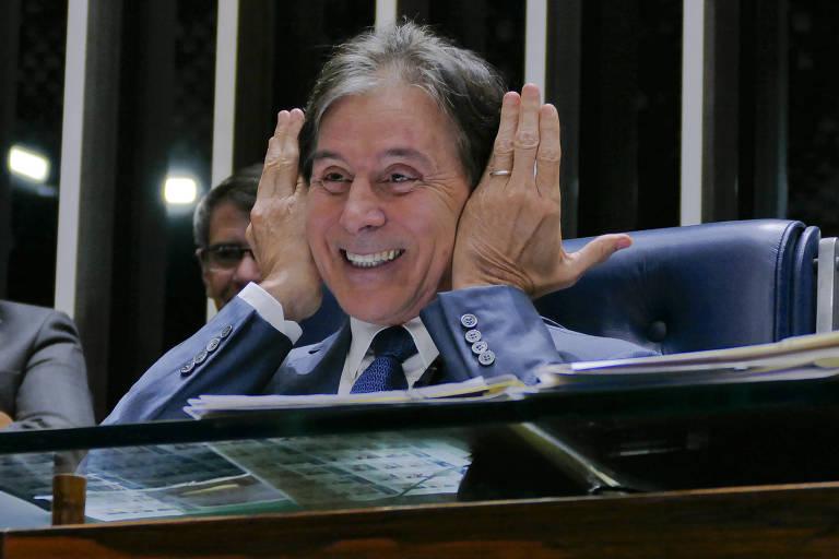Plenário do Senado Federal durante sessão deliberativa ordinária. Ordem do dia.À mesa, presidente do Senado, senador Eunício Oliveira (MDB-CE), conduz sessão.Foto: Roque de Sá/Agência Senado