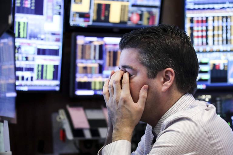 Investidor preocupado