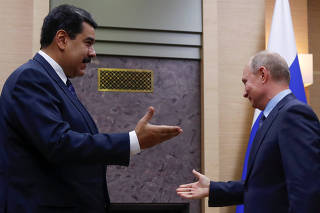 Russian President Putin meets with his Venezuelan counterpart Maduro outside Moscow