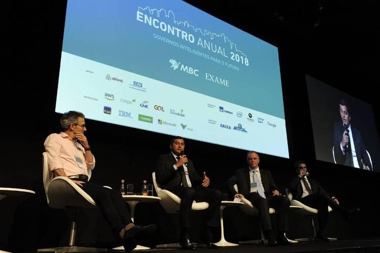 Os governadores eleitos Romeu Zema (Novo-MG), Wilson Lima (PSC-AM), Renato Casagrande (PSB-ES) e Eduardo Leite (PSDB-RS)