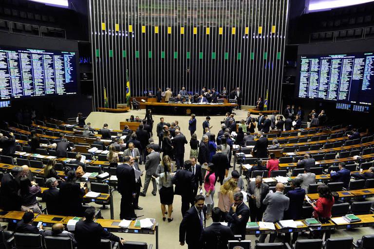 Plenário da Câmara dos Deputados durante sessão extraordinária. PDT, PSB e PC do B anunciaram formação de bloco de oposição sem o PT