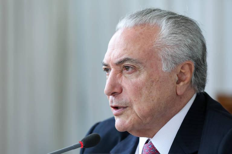 Presidente da República, Michel Temer durante Café com correspondentes estrangeiros no Brasil