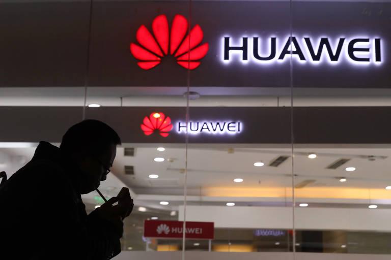 Logo do Huawei; empresa é a segunda maior fabricante de smartphones do mundo - Aly Song/Reuters