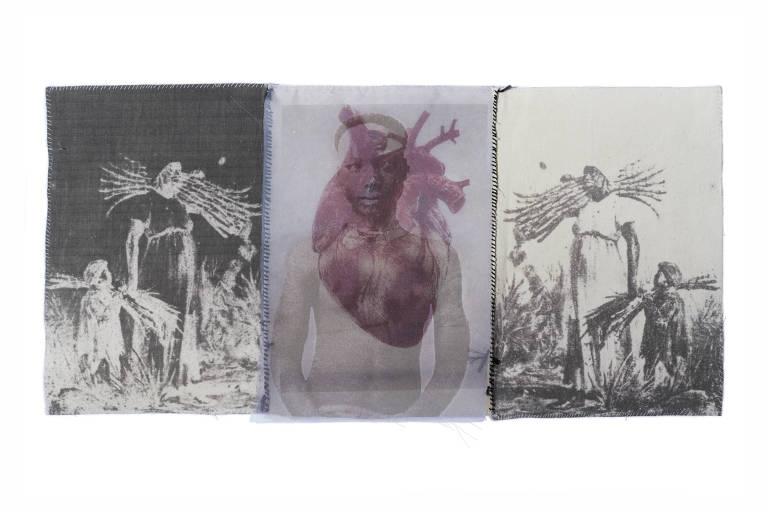 Obra que compõem a exposição 'A Costura da Memória' na Pina Luz