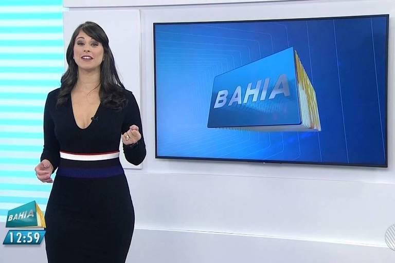 Jéssica Senra apresenta o Bahia Meio Dia, na TV Bahia