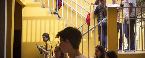SAO PAULO, SP, BRASIL, 28.jun/2017, 12h30: Alunos do Colégio Vertice, melhor resultado no Enem entre as escolas particulares. Ranking das escolas com o melhor resultado no Enem. (Foto: Marcelo Justo/Folhapress) ***COTIDIANO***