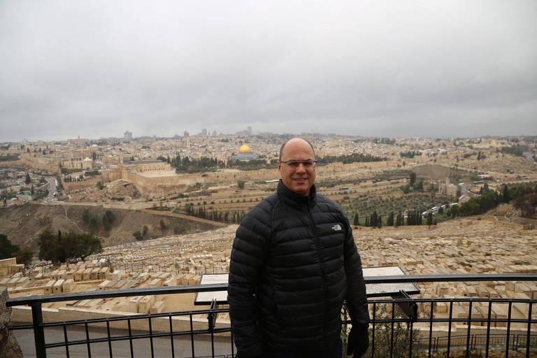 O governador eleito do Rio, Wilson Witzel (PSC), em Jerusalém