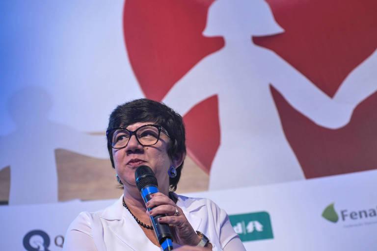 Juliana Pereira, diretora-executiva de clientes da Qualicorp, durante evento realizado em Pinheiros, zona oeste paulistana, em dezembro do ano passado
