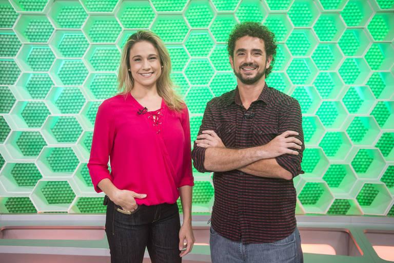 Fernanda Gentil e Felipe Andreoli no comando do dominical esportivo