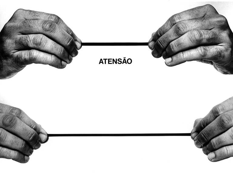 Atensão, obra do artista plástico Carlos Zilio (1976)