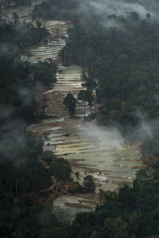 Mineração ilegal na Amazônia
