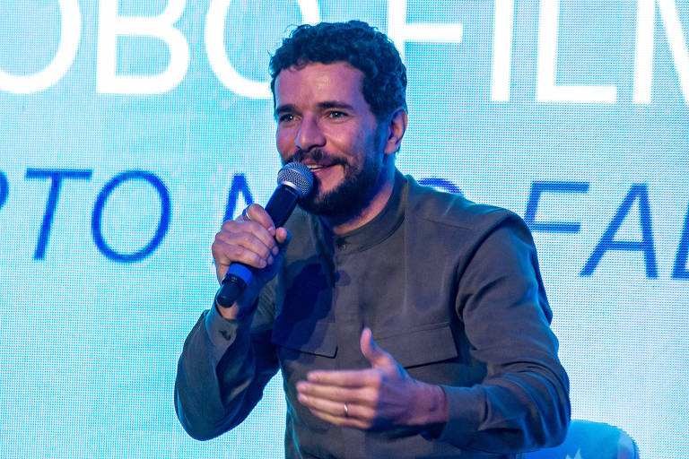 O ator Daniel de Oliveira durante painel sobre 'Morto Não Fala' na Comic Con Experience 2018, em São Paulo