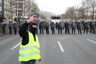 Yellow vests' protest in Brussels