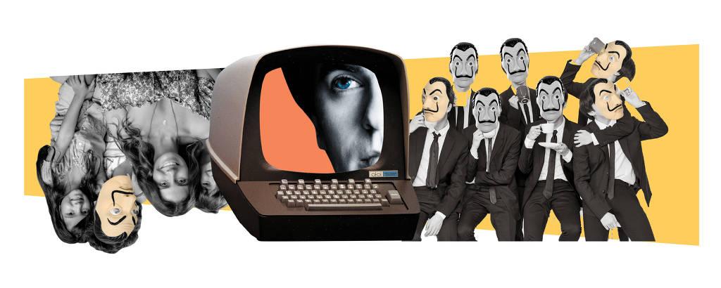 Colagem de Alex Kidd para matéria sobre levantamento que aponta pessoas e tópicos  que mais deslancharam na Wikipédia