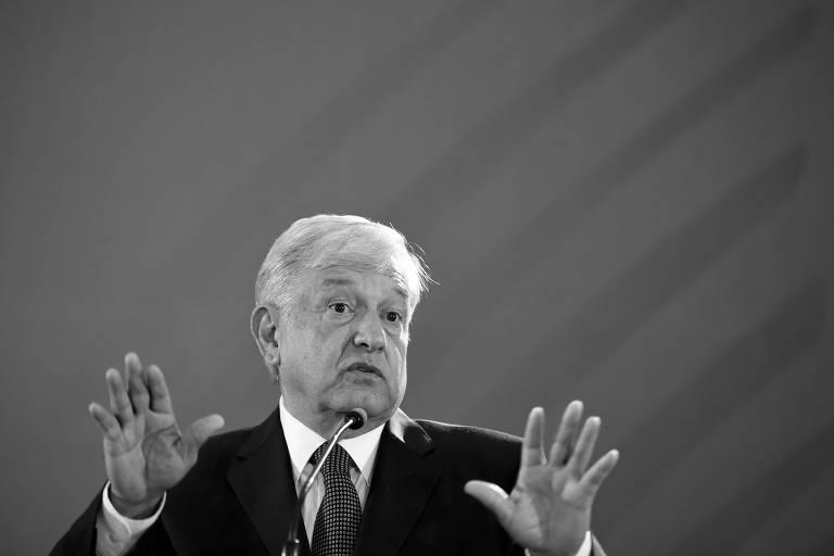 O presidente mexicano, Andrés Manuel López Obrador, durante sua primeira entrevista à imprensa após tomar posse