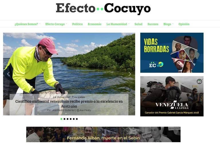 Site do jornal Efecto Cocuyo, da Venezuela