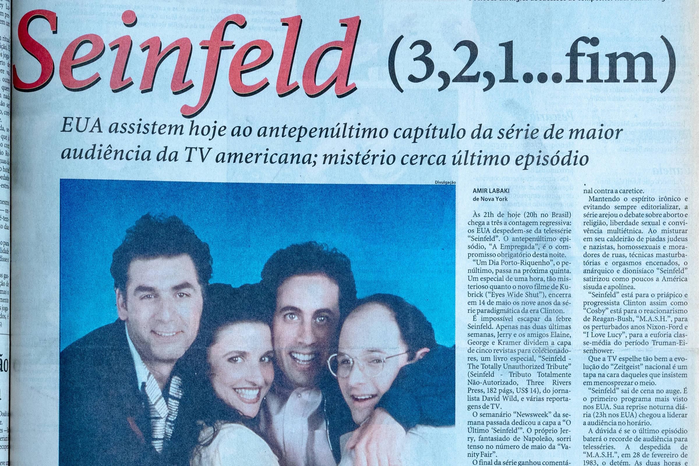 Capa da Ilustrada de abril de 1998