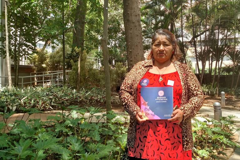 A boliviana Diana Soliz, 58, que integra a diretoria do Sindicato das Empregadas e Trabalhadores Domésticos de São Paulo