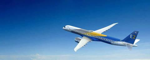 A nova linha de jatos comerciais da Embraer E-Jets E2, composta por novos modelos do E175, do E190 e do E195. A fabricante assinou cartas de intenções com cinco empresas da África, Ásia, Europa e América Latina para as aeronaves.