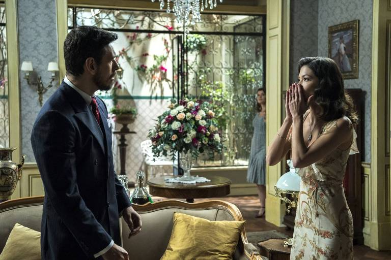 Cenas da novela 'Espelho da Vida'