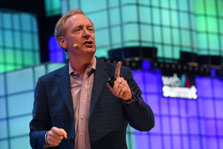 Brad Smith, vice-presidente jurídico da Microsoft; ele lidera a discussão sobre o tema