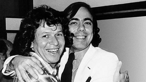 ORG XMIT: 284101_0.tif Os executivos José Bonifácio de Oliveira Sobrinho (o Boni) e Walter Clark em foto de 1969. (Foto: Divulgação)  ANOSDE1969