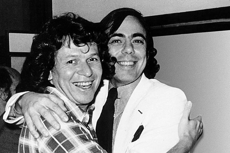 Boni e Walter Clark em foto de 1969