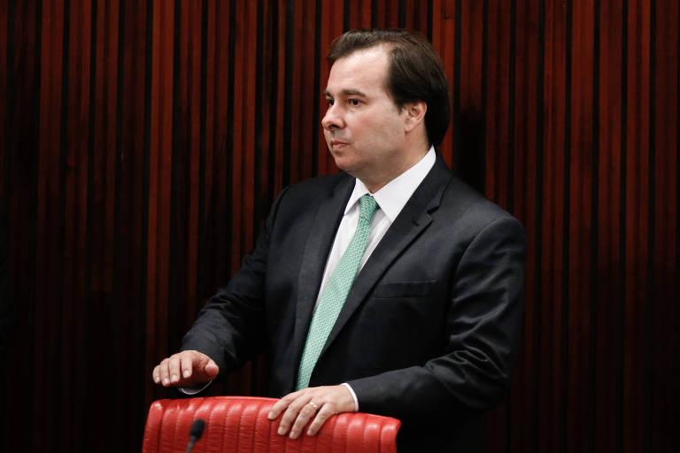 O presidente da Câmara dos Deputados, Rodrigo Maia (DEM-RJ), que tenta a reeleição