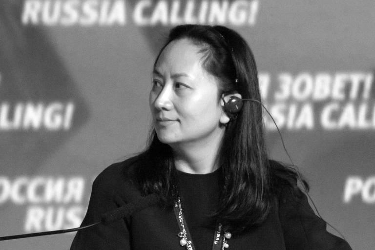 Meng Wanzhou, filha do fundador da Huawei, Ren Zhenfei, durante participação em fórum em Moscou, em 2014