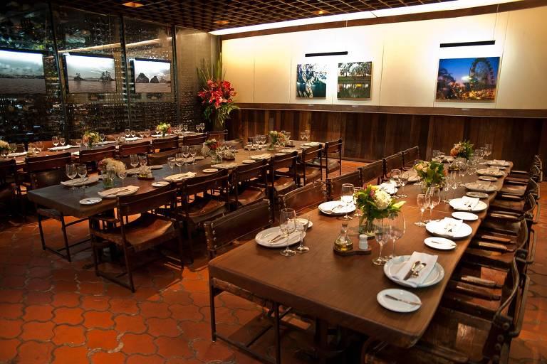 Ambiente do restaurante Rubaiyat da alameda Santos
