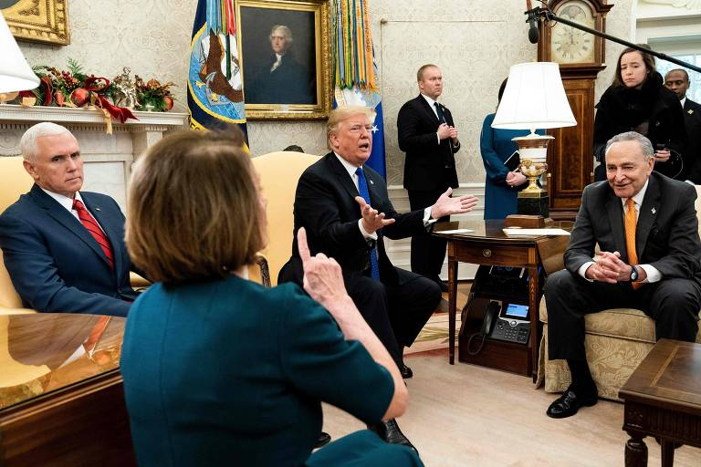 Top Democrats Schumer and Pelosi meet Trump for talks to avert shutdown