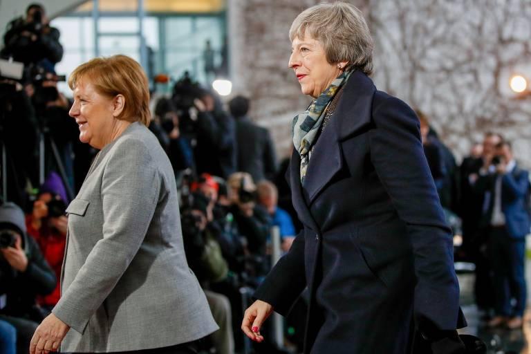 May faz turnê pela Europa em busca de apoio ao 'brexit'