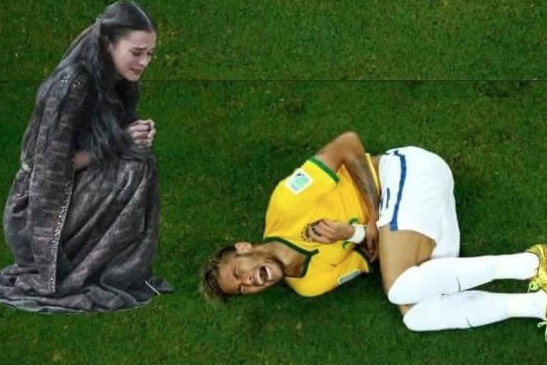 Meme relacionado ao Neymar