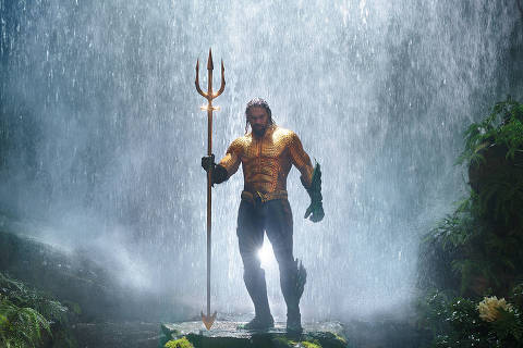 This image released by Warner Bros. Pictures shows Jason Momoa in a scene from