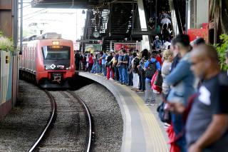 Acidentes nos vaos de plataforma de trens da CPTM